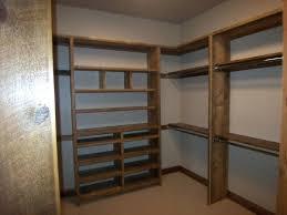 wood closet srage shelving ideas pole brackets menards