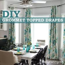 Diy Curtains How To Make Unlined Diy Drapes With An Easy Grommet Top The Diy
