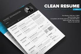 Clean Resume Template Free On Behance