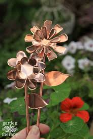copper garden art. Copper Garden Art Flowers DIY Project