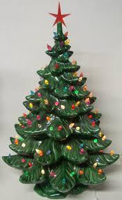Ceramic Tabletop Christmas Tree With Lights Gorgeous Vintage Ceramic Lighted Christmas Tree 32 Inch Ceramic Light