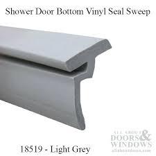 marvellous shower door sweep replacement shower door bottom vinyl seal sweep keystone by light grey frameless shower door sweep with drip rail