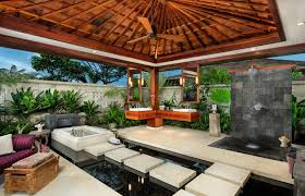 image of flush mount outdoor ceiling fan style