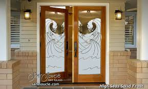 high seas frosted glass front doors