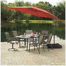 rectangular umbrella patio