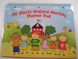 Teacher Organizer Planner Details About Monthly Planner Undated Teacher Supplies Homeschool Organizer Management New