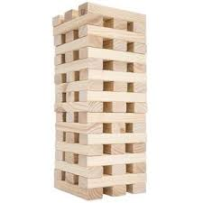 Game With Wooden Blocks Nontraditional Giant Wooden Blocks Tower Stacking Game Outdoor 29