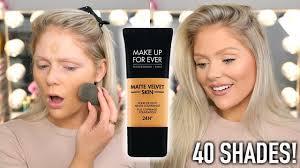 new makeup forever matte velvet skin foundation first impressions wear test