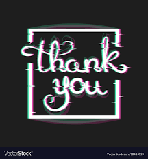 Electronic Thank You Card Free Thank You Card With Glitch Effect