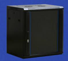 W H D x 450 x 634 Glass Door Flat Pack 12U <b>wall mounted</b> Data ...