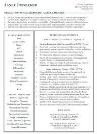 Veterinary Resumes Surgical Tech Resume Sample Best Of Veterinary Technician