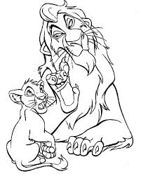 Lion King Coloring Pages Scar