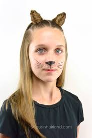 Cat Hair Style cat ears using your own hair 2 halloween hairstyle babes in 8101 by stevesalt.us
