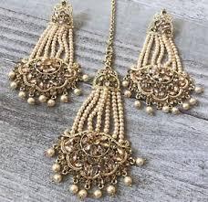image is loading jhumka indian jewelry tikka jhumka stani earrings bollywood
