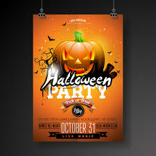 Halloween Dance Flyer Templates Halloween Flyer With Poster Cover Template Vector 07 Free