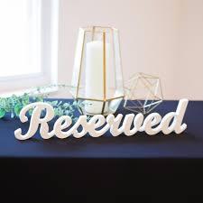 """<b>Reserved</b>"" <b>Sign</b> for <b>Wedding</b> – Z Create Design"