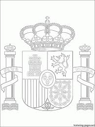 Small Picture Flag Of Spain Coloring Page Coloring Home