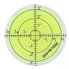 Doğrusal ölçek 60mm çap ölçme aracı yuvarlak seviye kabarcık ölçekli kamera  platformu denge seviyesi ölçüm aletleri|Level Measuring Instruments