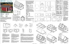 double dog house plans. Dog House / Pet Kennel Project Plans, Gable Double Roof Style With Porch, Design # 90305D - Baby Furniture Woodworking Plans Amazon.com N