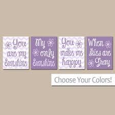 you are my sunshine wall art purple lavender sunshine chevron c