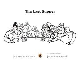 Small Picture The Last Supper Coloring Page creativemoveme