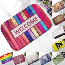 colorful welcome mat. Fine Colorful 1pcs Colorful Welcome Pattern AntiSlip Carpet 6040cm Door Mat Doormats  Outdoor Bathroom Inside Mat O
