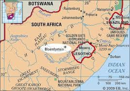 Britannica National South Africa Judicial Capital com Bloemfontein