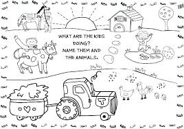 Farm Coloring Pages For Toddlers Coloring For Kids Animals Coloring