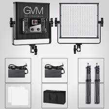 Outdoor Interview Lighting Gvm Video Led Lighting Kit For Studio Lighting Equipment