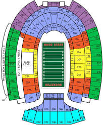 Horseshoe Osu Seating Chart 70 Ageless Ohio Stadium Seating Chart Photos