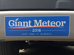 political campaign bumper stickers amazon com giant meteor 2016 bumper sticker automotive