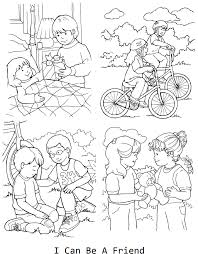 Small Picture I can be a friend coloring page for lesson 33 LDS Primary
