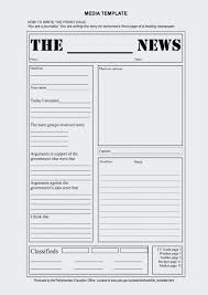 Newspaper Story Template Awesome Of Kids Newsletter Templates How To Write A Newspaper