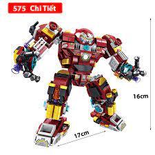 Đồ chơi lắp ráp Robot ironman 12 trong 1 Lego Robot với 575 chi tiết nhựa  ABS cao cấp | Xếp khối