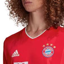 White stripes adorn the sides of the jersey. 2020 21 Robert Lewandowski Bayern Munich Home Authentic Jersey Soccer Master