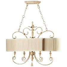 maison french country antique white 4 light island chandelier kathy kuo home