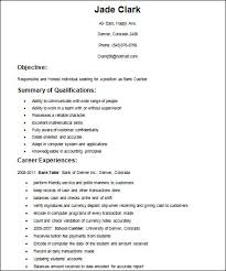 Basic Template Resume Examples