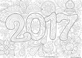 Small Picture doodle adult new year 2017 Coloring pages Printable
