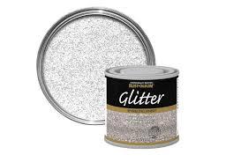 glitter paint from b q