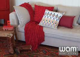 Small Picture Red home dcor coordinating red throw rug with red cushions