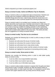 calameo essay on animal cruelty useful and effective tips for  essay on animal cruelty useful and effective tips for students