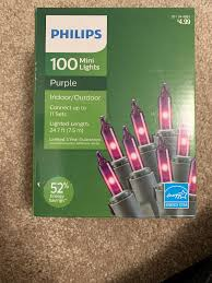 Philips 100 Green Mini Lights Upc 741895019288 Philips 100 Purple Mini Lights