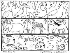 creation coloring sheet color printables of days gods creations trials ireland