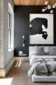 black and white horse painting minimalist art large canvas art abstract painting modern