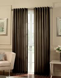 interior grey fabric curtains on stainless hook connected by white wall theme elegant curtains