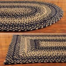 braided area rugs elegant ebony black and tan jute braided area rug