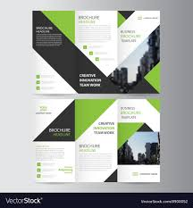 Ebrochure Template Green Business Trifold Leaflet Brochure Template