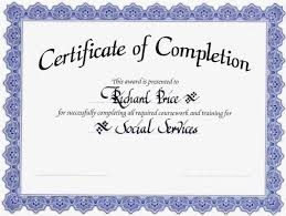 Certificate Of Completion Templates Blank Award Certificate Templates The Haggis Trophy Is