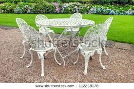wrought iron garden furniture antique. vintage wrought iron garden table and six chairs in an english furniture antique h