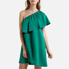 <b>Платье короткое</b> для торжества асимметричное с воланом ...